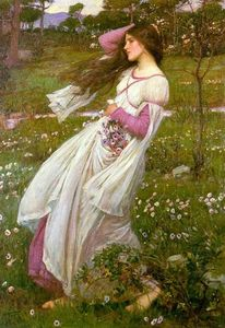 John William Waterhouse - Windflowers ( Spettinato )