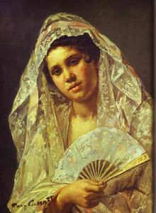 Mary Stevenson Cassatt - Spanish Dancer Indossando una Lace Mantilla