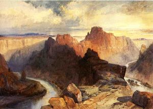 Thomas Moran - Estate Anfiteatro  Fiume Colorado  l'utah  teritorio