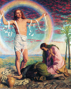 William Holman Hunt - Cristo e il due Marys