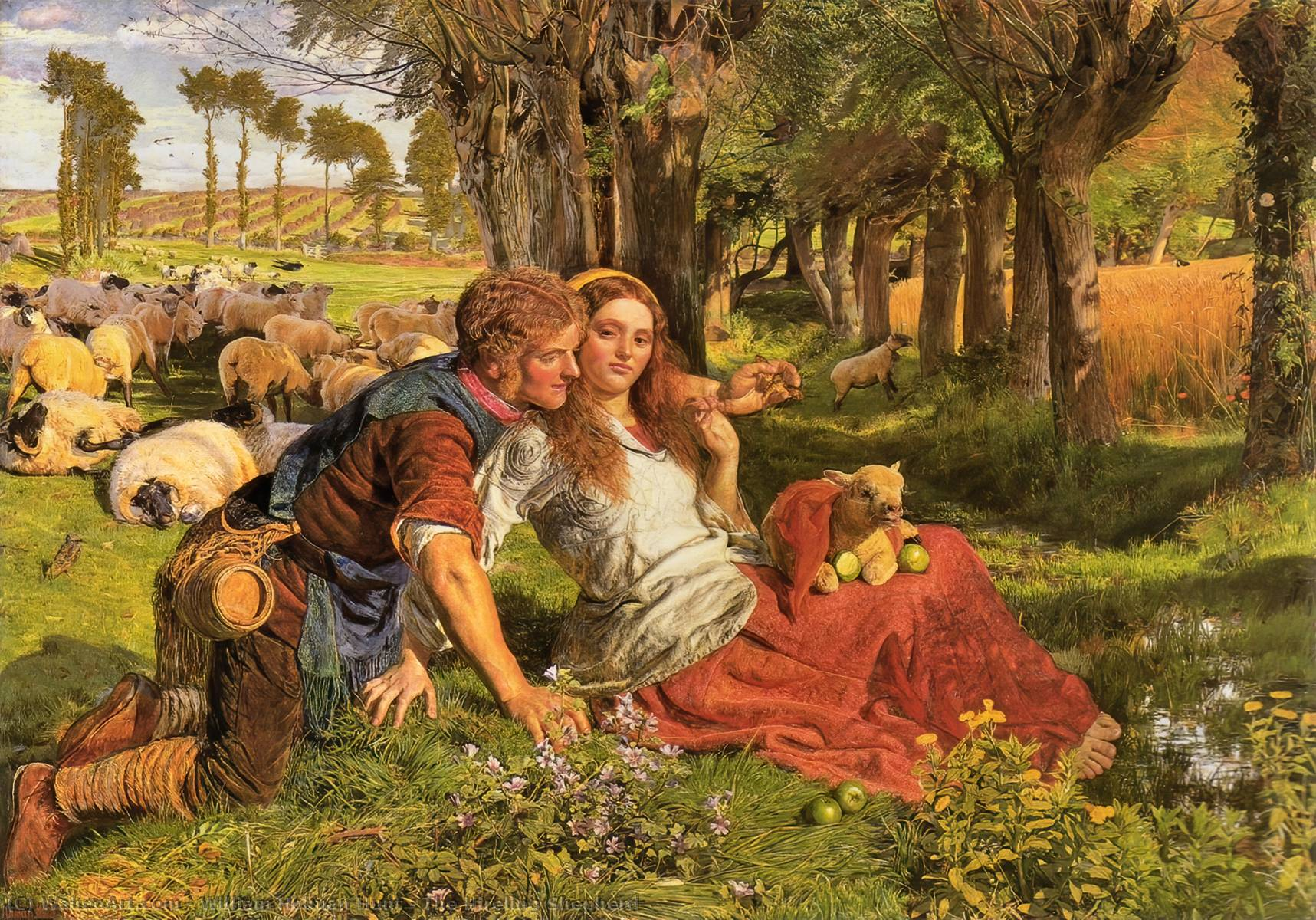 Il mercenario Shepherd, olio su tela di William Holman Hunt (1827-1910, United Kingdom)