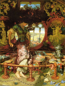 William Holman Hunt - La Signora di Shalott