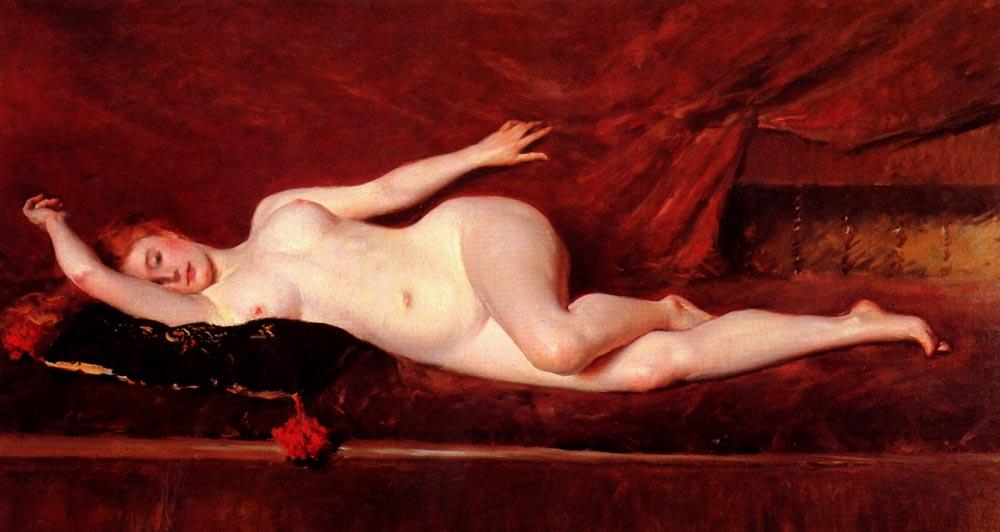 A Study in Curve, 1890 di William Merritt Chase (1849-1916, United States) | Riproduzioni D'arte William Merritt Chase | WahooArt.com