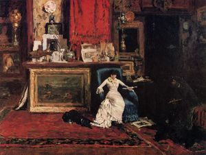 William Merritt Chase - Interno del Artist's Studio aka decimo Strada