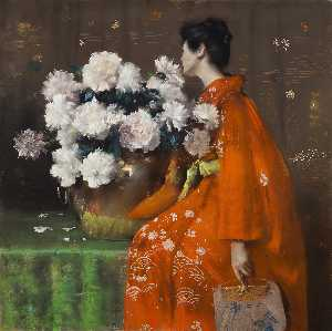 William Merritt Chase - Peonie
