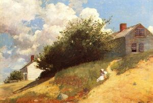 Winslow Homer - case su un collina