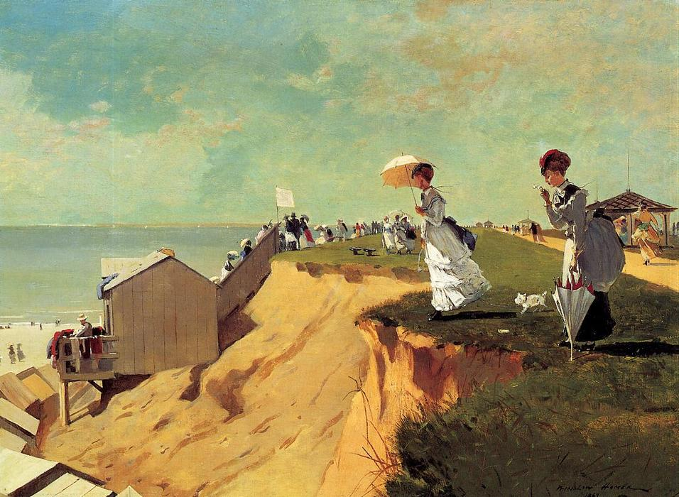 Long Branch, New Jersey, olio su tela di Winslow Homer (1836-1910, United States)