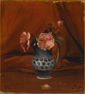 André Derain - rose in blu brocca