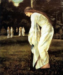 Edward Coley Burne-Jones - santo george e il drago - il principessa Legato al Albero