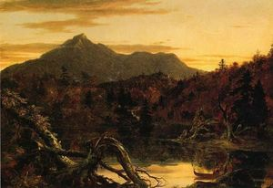 Thomas Cole - autunno crepuscolo , vista corway peak