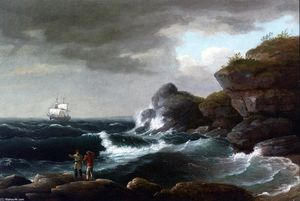 Thomas Birch - scena litoranea