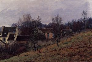Alfred Sisley - autunno in louveciennes