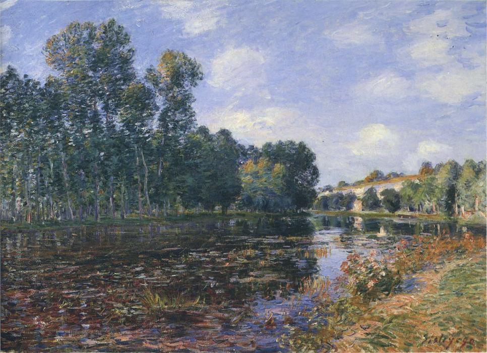Bend il fiume Loing in estate, olio su tela di Alfred Sisley (1839-1899, France)