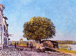 Alfred Sisley - Castagno a Saint Mammes
