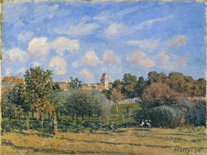 Alfred Sisley - Chiesa a Noisy Le Roi in autunno
