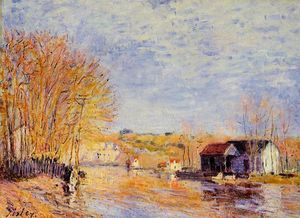 Alfred Sisley - Alti Waters a Moret-sur-Loing