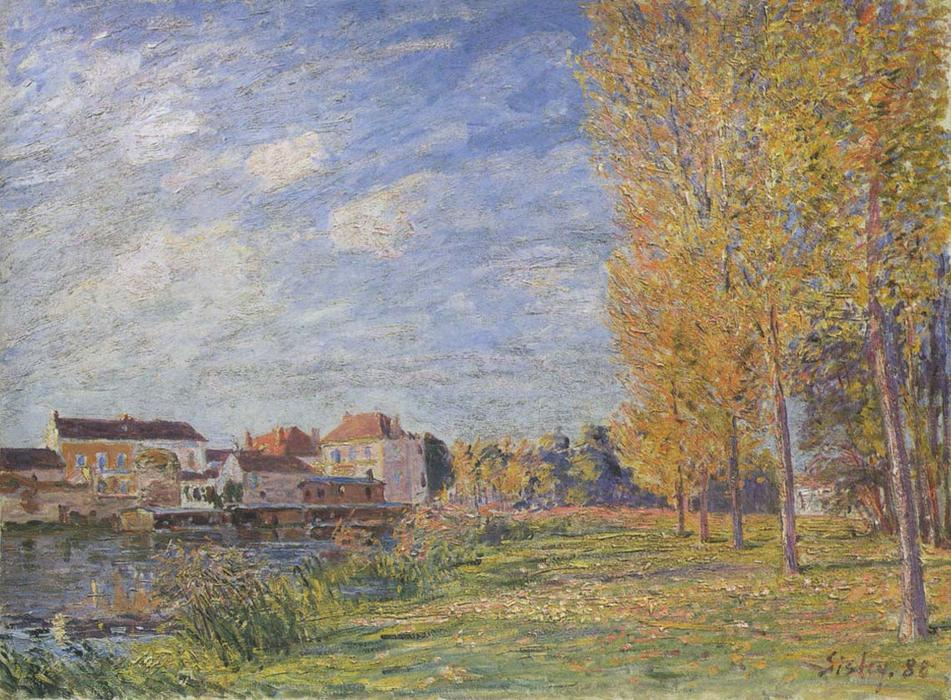 indiano estate a moret sunday pomeriggio di Alfred Sisley (1839-1899, France) | Copia Pittura | WahooArt.com