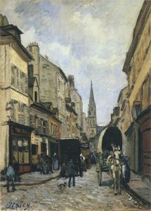Alfred Sisley - principale strada in argenteuil