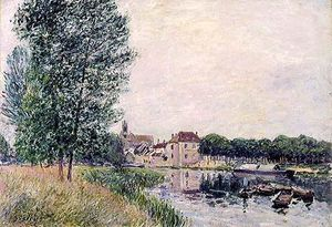 Alfred Sisley - Loing a Moret
