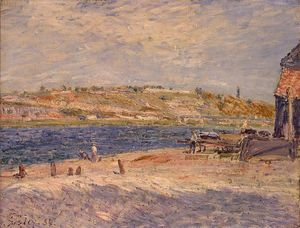 Alfred Sisley - Riverbanks a Saint Mammes