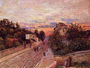 Alfred Sisley - Tramonto a Port Marly
