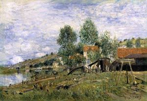 Alfred Sisley - Il Cantiere navale di Saint Mammes