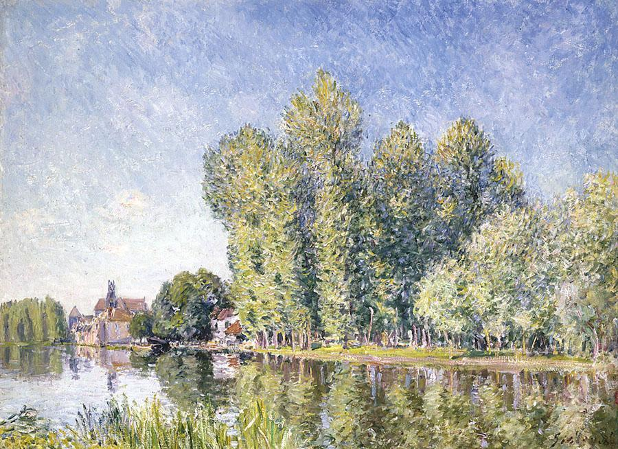 Il Loing a Moret 1, olio di Alfred Sisley (1839-1899, France)