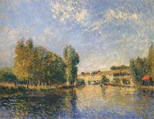 Alfred Sisley - Il Loing a Moret