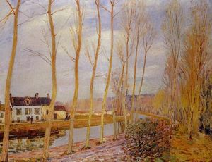 Alfred Sisley - Il Canale Loing a Moret