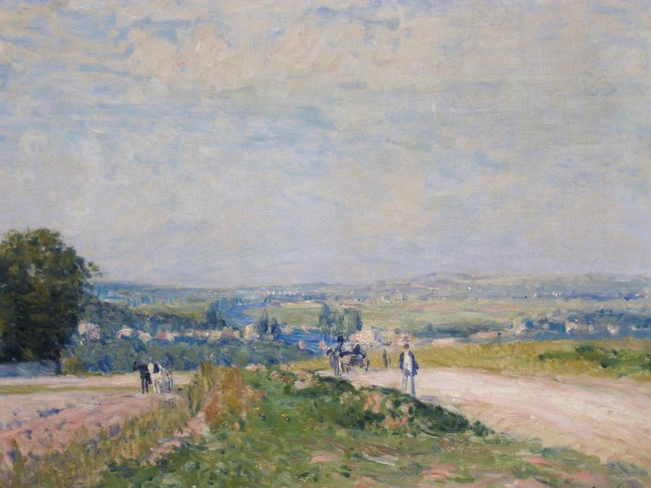 The Path to Montbuisson, olio su tela di Alfred Sisley (1839-1899, France)
