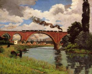 Jean Baptiste Armand Guillaumin - Ponte sul marna a joinville