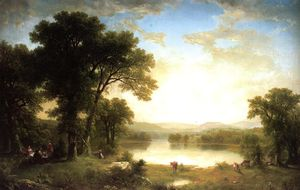 Asher Brown Durand - Picnic nel paese