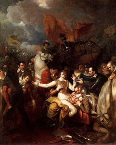 Benjamin West - The Fatal Ferimento di Sir Philip Sidney