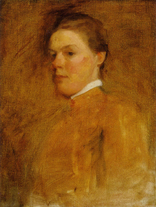 autoritratto, olio di Cecilia Beaux (1855-1942, United States)