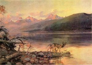 Charles Marion Russell - Deer a Lake McDonald