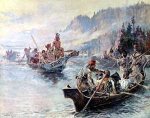Charles Marion Russell - Lewis e Clark nel Lower Columbia