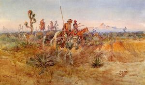 Charles Marion Russell - Navajo Trackers