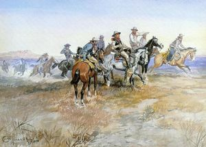 Charles Marion Russell - Inizio di Roundup