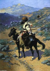 Frederic Remington - Un Trapper indiano