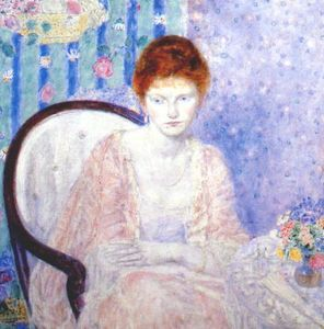 Frederick Carl Frieseke - signora in rose