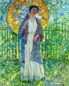Frederick Carl Frieseke - Il Parasol giapponese
