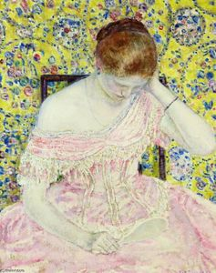 Frederick Carl Frieseke - The Old Fashioned Gown