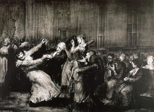George Wesley Bellows - Danza in un Madhouse