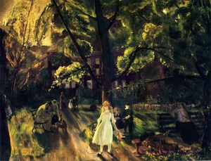 George Wesley Bellows - Gramercy Park