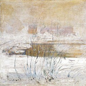 John Henry Twachtman - ponte in inverno