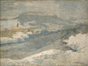 John Henry Twachtman - River in inverno
