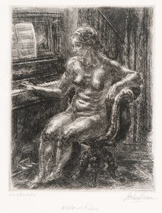 John Sloan - Nude in Piano
