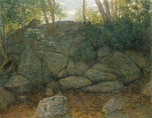 Julian Alden Weir - Woodland Rocks