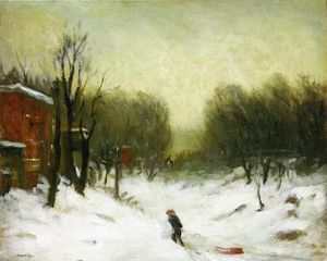 Robert Henri - Seventh Avenue nella neve