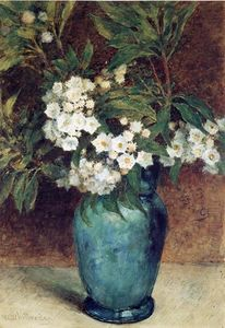 Thomas Worthington Whittredge - Laurel Fiori in un vaso blu